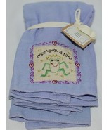 Natural Life Brand BB002 Once Upon A Time Lavender Green Frog Baby Burp ... - $12.95