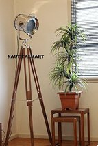 Designer Chrome Marine Tripod Floor Lamp Spot Light Search Light By NAUTICALMART - $197.01