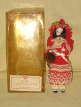 "Vintage Danbury Mint "" Rose "" Gibson Girl Porcelain Doll - 7 Inches - $39.35"