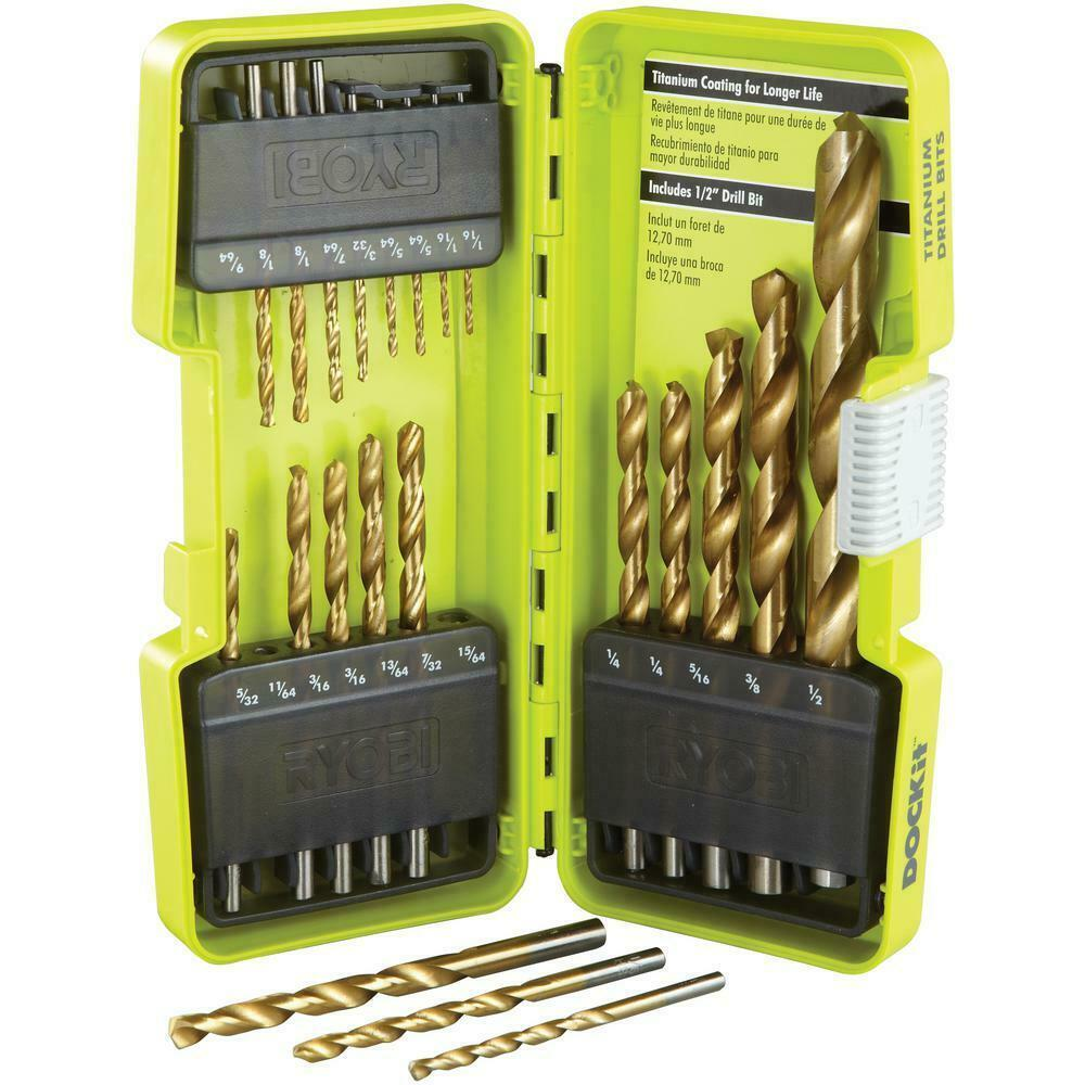 Primary image for Ryobi - A972102 - Titanium Coated Drill Bit Set - 21-Piece