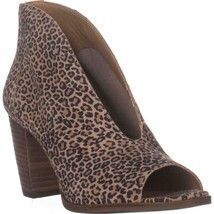 Lucky Brand Joal Middle Exposure Peep Toe Ankle Boots, Eyelash - $45.99