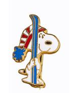 Vintage Snoopy Pin Ski's Skiing Metal Aviva Pin Pinback - $10.62
