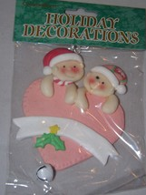 Commodore Resin Ornament - NEW - Baby Pink Heart With Bell - $6.64