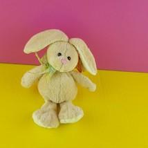 Ty Beanie Baby Hopson Rabbit 2006 Bunny Easter Tan Green Ribbon  - $17.82