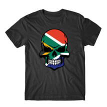 South African Flag Skull Cool South Africa Skull T-Shirt - $23.99+