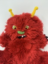 "GYMBOREE SHAGGY MONSTER RED PLUSH FURRY SOFT STUFFED ANIMAL 8"" TALL 2003 - $10.99"