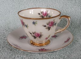 Tea Cup Saucer Roses Floral Pattern Gold Trim Porcelain China Lot Mismat... - $9.89