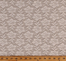 """58"""" Stretch Lace Natural Flowers Rose Floral Lace Pattern Fabric by Yard D170.46 - $7.99"""
