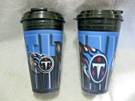 Nfl Licensed Tennessee Titans 3-D Holographic 16oz Spirit Travel Mug Two Pack!! - $19.95