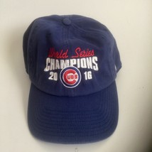 '47 MLB Chicago Cubs Baseball 2016 World Series O/S Strapback Blue Hat Cap  - $17.81