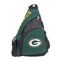 "NFL Green Bay Packers Green/Black Leadoff Sling Backpack 21""x13""x7"" - ₹2,604.30 INR"