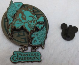 Disney Pirates of the Caribbean Asian Skull and Fish Dangle Pin Open Edition - $16.49