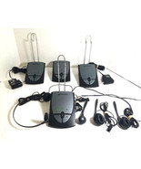 Lot of 4 Plantronics S12 Telephone Headset System Corded Office Hands Free - $28.71