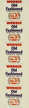 Vintage bread wrapper WONDER OLD FASHIONED carriage picture Rye NY new o... - $8.99