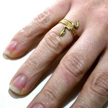 18K YELLOW GOLD MAGICWIRE MULTI WIRES RING, ELASTIC WORKED SNAKE, WHITE TOPAZ image 4