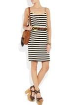 J Crew Silk Stripe Blouson Crepe De Chine Waisted Dress Size 0 - $58.41