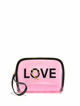 Victoria's Secret Love By Victoria Beauty Bag See Through Pink Cosmetic ... - $19.79