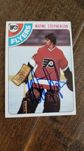 1978-79 TOPPS SIGNED AUTO ON CARD WAYNE STEPHENSON FLYERS BLUES CAPITALS... - $59.39