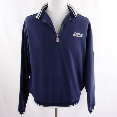 Primary image for Carnival Cruise Lines 1/4 Zip Navy Blue Polo Sweatshirt Mens Sz S/M