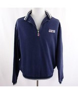 Carnival Cruise Lines 1/4 Zip Navy Blue Polo Sweatshirt Mens Sz S/M - $29.02