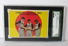 1959 Topps CORSAIR OUTFIELD TRIO Baseball Card SGC 84 NM 7 ROBERTO CLEME... - $98.00