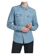 Levi's Men's Classic Barstow Western Casual Denim Light Wash Dress Shirt - $39.95
