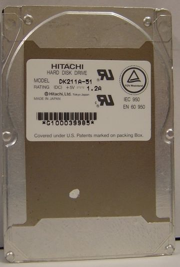 Hitachi DK211A-51 510MB 2.5IN 19MM IDE Drive Tested Good Free USA Shipping