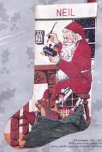 Candamar Santa the Toy Maker Workshop Christmas Cross Stitch Stocking Ki... - $39.95