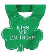 Carter's Kiss Me I'm Irish Shamrock Bib One Size Fits Most, Green - $9.42