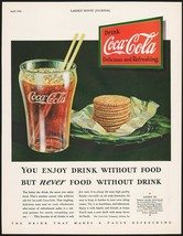 Vintage magazine ad COCA COLA from 1932 glass crackers diminishing logo ... - $12.99