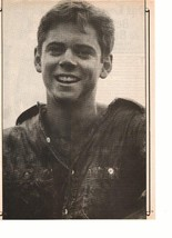 C Thomas Howell magazine pinup clipping black and white vintage 80's happy boy