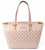 Michael Kors Violetto Jet Set Shopper Borsa Grande Balletto Rosa Tenue Saffiano - $290.57