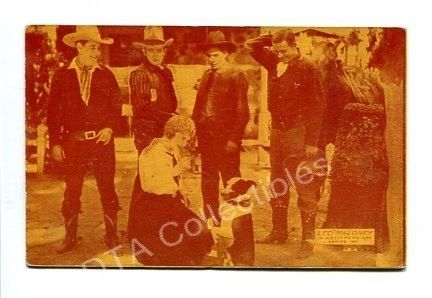 Primary image for WESTERN PICTURE #1-ARCADE CARD-LEO MALONEY-1920 G