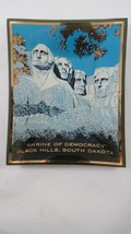 Vintage Mount Rushmore Small Glass Tray Souvenir Dish  Mid Century - $4.95