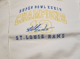 St. Louis Rams Vintage Sweatshirt 2XL Super Bowl XXXIV Champion Kurt War... - $11.99
