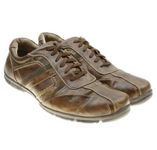 Bass Toby Mens Brown Leather Driving Shoes Lace-ups Oxfords Walking Size... - $19.79