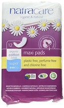 Natracare Maxi Pads Super with Organic Cotton Cover 12 ea Pack of 2