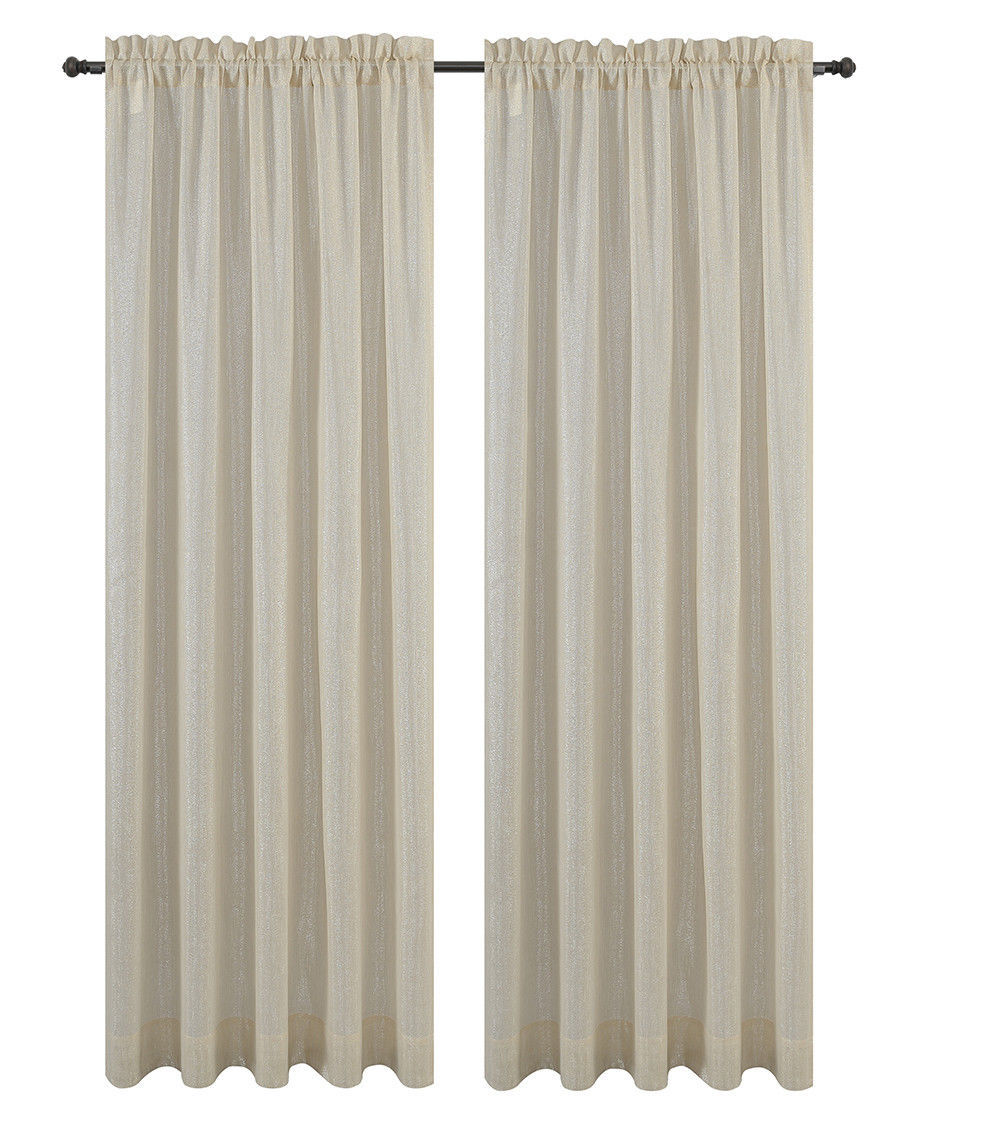 Urbanest Cosmo Set of 2 Sheer Curtain Panels