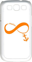 White & Orange Infinity Symbol with Anchor Samsung Galaxy S3 Case Cover - $13.95