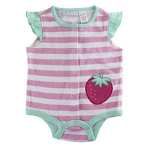First Impressions Baby Girls Stripe & Strawberry Creeper Bodysuit, 0-3 M... - $10.00