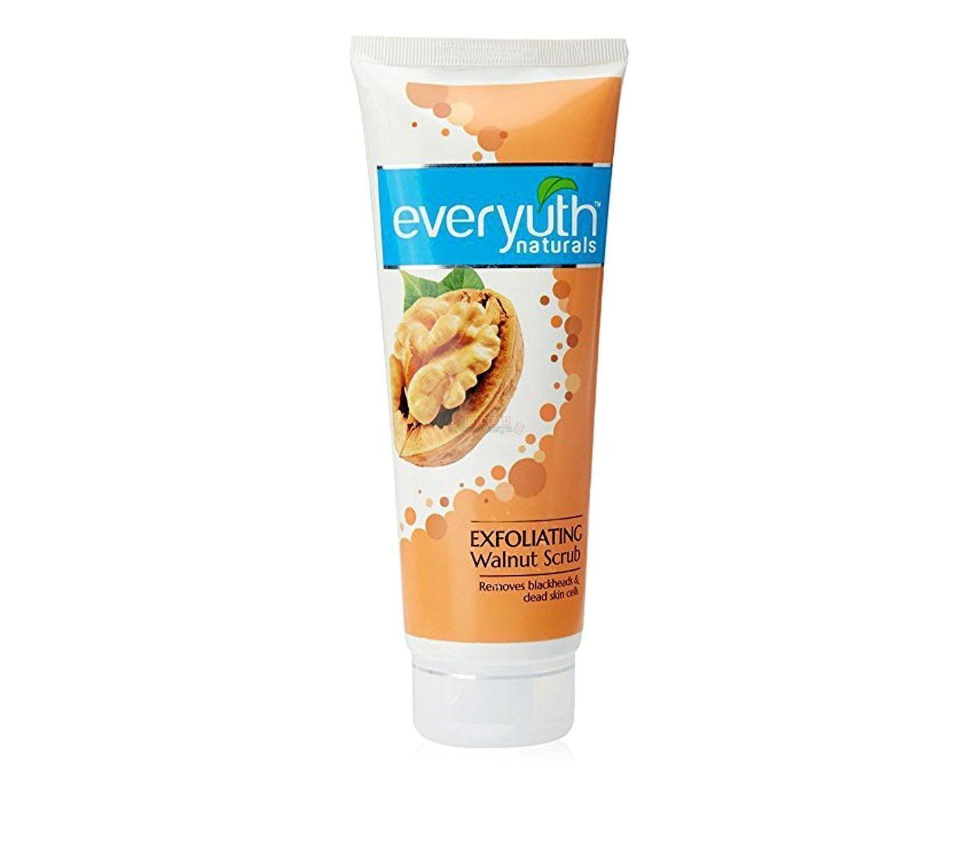Everyuth Naturals Exfoliating Walnut Apricot Face Scrub 200 ml Free Ship