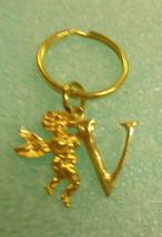 """St. Evans Gold Angel """"V""""  Keychain #AV UPC:710534488785 - $6.68"""