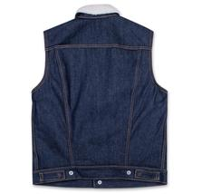New Levi's Men's Premium Button Up Sherpa Fleece Lined Multi Pocket Denim Vest image 7