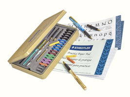 Calligraphy Pen Set Complete 33 Piece Tin Ideal For All Skill Levels 899... - $24.31