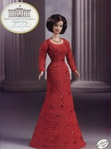Laura Bush Outfit fits Barbie Doll First Ladies Crochet Pattern Leaflet - $8.97
