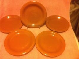 (5) Gibson Color Sensations Brown Salad PLATES--FREE SHIP--VGC - $28.89