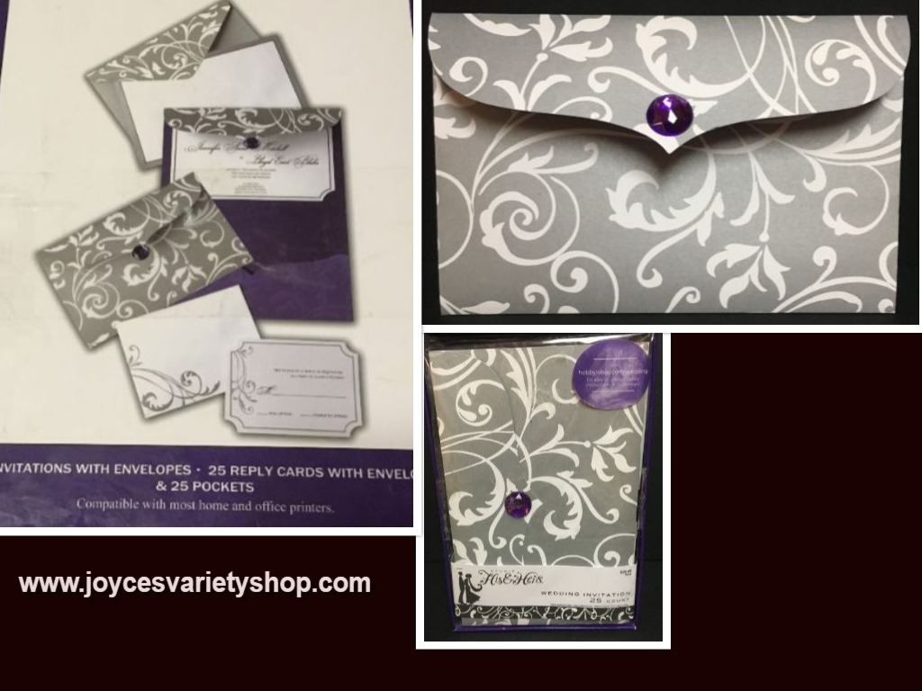 His hers invitations web collage