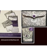 His & Hers Wedding Invitations Complete Gray & White Floral Purple Accen... - $19.99