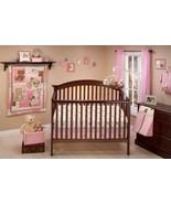 Pink Tan Teddy Bear 10pcs Crib Bedding Set Baby Girl Nursery Quilt Mobil... - $125.63