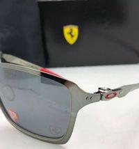 Polarisiert Oakley Sonnenbrille Scuderia Ferrari Tincan OO4082-09 Schwarz Chrom image 7